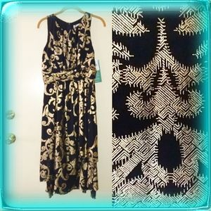 J. Taylor Special Occasion dress gold on black 6